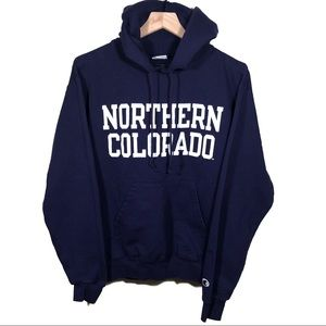 Vtg 90s Champion Northern Colorado Spellout Hoodie